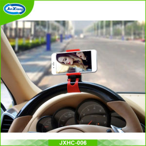 Hot Selling Flexible 360 Degree Universal Mobile Phone Car Holder Buckle Steering Wheel Car Holder pictures & photos