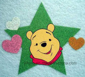 Gold Glitter Transfer Stickers Printing for Children Garments Shoes Bags pictures & photos