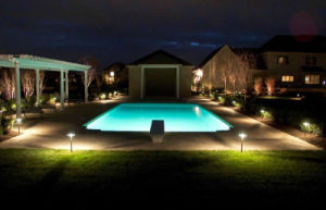 Outdoor LED Lighting Super Bright Brass Garden Spotlight IP65 pictures & photos