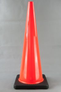 90cm Black Base PVC Cone Without Reflective Tape pictures & photos
