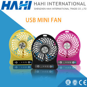 Wholesale Gift Mini USB Desk Fan with 18650 Lithium Battery pictures & photos