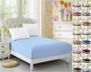 Luxury Microfiber Fitted Bed Sheets in Solid Colors pictures & photos
