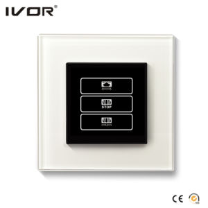1 Gang Curtain Switch Aluminum Alloy Outline Frame Black Color (HR1000-AL-CT(AC1)-B) pictures & photos