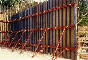 Plywood Face Wallform, Tunnel Form, Column Form Used in Construction Pouring Concrete pictures & photos