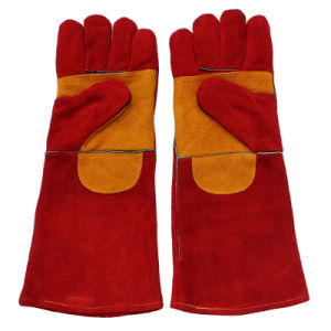 Double Palm Leather Safety Working Welding Gloves pictures & photos