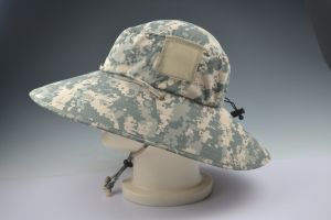 Camo Color Upf50+ Outdoor Hat with Woven Label pictures & photos