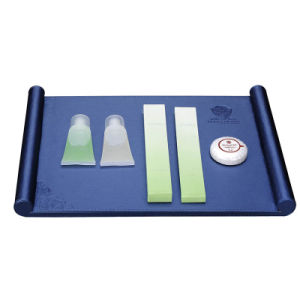 Sky Blue Leather Product Amenities Tray pictures & photos