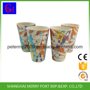 Food Grade Colorful Bamboo Drinking Cup Bamboo Powder Cup pictures & photos