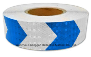 High Quality Blue and White Arrow Reflective Warning Tape (C3500-AW) pictures & photos