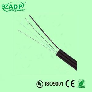 FTTH Fiber Optic Drop Wire Flat Cable 1 2 4 6 8 Cores G652D with Kfrp + Steel Indoor FTTH pictures & photos