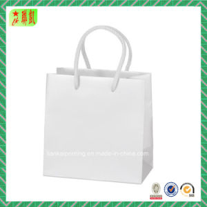 White Kraft Paper Blank Handbags pictures & photos