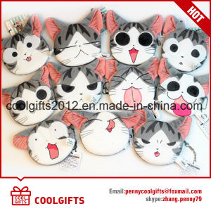 Customized Mini Cat Animal Plush Stuffed Bag Toy Key Chain Coin Purse pictures & photos