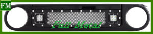for Toyota Fj Cruiser Black Stainless Steel Grille with Lights pictures & photos