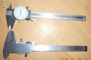 150mm Carbon Steel Dial Caliper pictures & photos