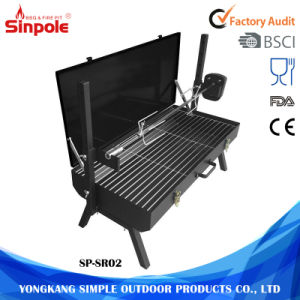Large Commercial Charcoal Vertical Outdoor BBQ Rotisserie Grill Machine pictures & photos