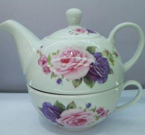 Porcelain Coffee Pot with Cup Set China Factory pictures & photos