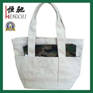 12oz High Quality Canvas Tote Shopper Bag with Handles pictures & photos