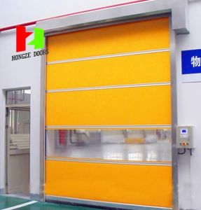 Dynaco High Performance Doors for Industrial and Logistics Clean Room and Refrigerated Security High Speed Door (Hz-FC0420) pictures & photos
