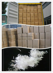 12mm Micro PP Polypropylene Fiber Virgin Monofilament PP Fiber Asphalt Concrete Fiber, pictures & photos
