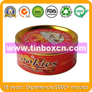 Round Cookie Tin Can, Biscuit Tin Box, Snack Tins pictures & photos