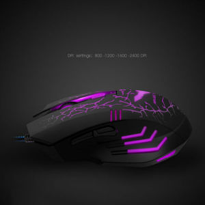 Gaming Mouse 3200dpi Adjustable Wired Optical LED Mice USB for Laptop PC pictures & photos