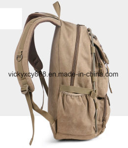 Men Canvas Traveling Leisure Laptop Computer Outdoor Sports Backpack (CY3669) pictures & photos