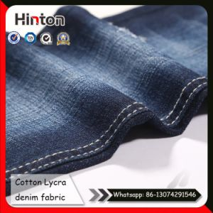Cotton Lycra 98/02 Twill Denim Fabric with Slub pictures & photos