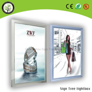 Made Four-Side Open Frame Slim Aluminum Frame LED Light Box pictures & photos
