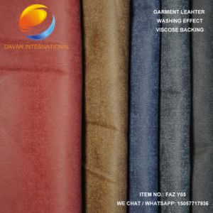 High Quality of Artificial Leather for Garment Faz Y65 pictures & photos