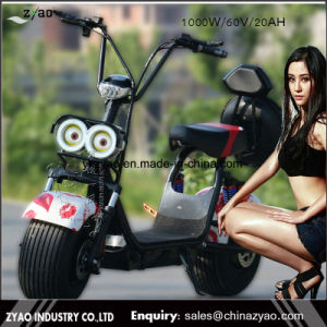 Hot Popular Halley Electric Scooter Motorcycle Citycoco 1000W 60V20ah for Adult pictures & photos