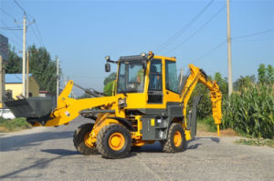 Hot Sale Backhoe Loader with Excavator Bucket and Breaker Hammer pictures & photos