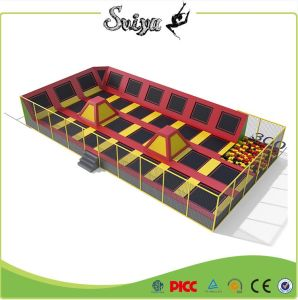 Functional Play Zone-Large Trampoline Park with Foam Pit and Basketball Hoop pictures & photos