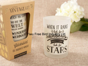 Craft Scented Soy Candle in Personalized Frosted Glass Jar pictures & photos