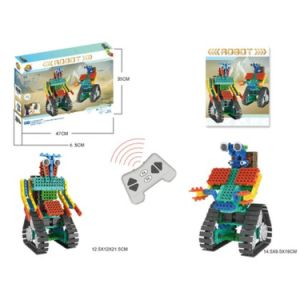 1488726-2 in 1 Warrior Battle Robot Block Kit Remote Control RC Blocks Set Education Creative Toy 137PCS - Color Random pictures & photos