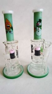 11′′ Straight Tube Cartoon Glass Smoing Pipe with High Quality pictures & photos