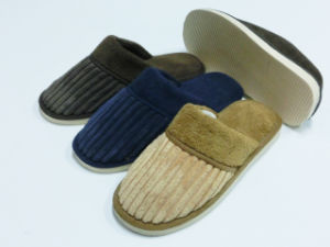 Very Soft Men Indoor Warm Slipper for Winter pictures & photos