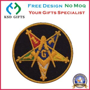 Iron on Backing Masonic Oes Embroidery Patch pictures & photos