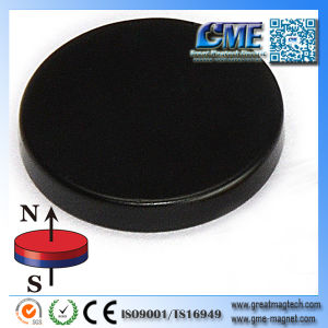 Epoxy Coated Neodymium Magnets Black Round Magnets pictures & photos