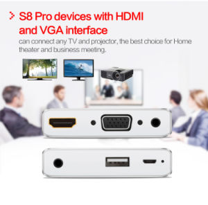 Screen Mirroring S8-PRO HDMI VGA for Ios8 / Android 5.0 Above pictures & photos