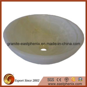 White Onyx Natural Stone Vessel Sink pictures & photos