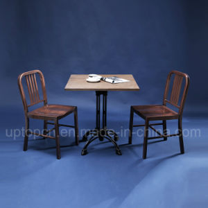 Industrial Style Restaurant Furniture with Wooden Table and Metal Chair (SP-CT754) pictures & photos