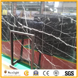 China Cheapest Black Nero Marquina Marble Slabs/Nero Marquina Marble Tiles pictures & photos