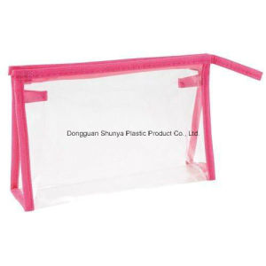 PVC Nylon Zipper Bag with Nowovens Trimming for Pakcing Cosmetic pictures & photos