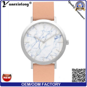 Yxl-059 Promotion Hot Sale Marble Face Watch Ladies Watch Genuine Leather Women Wrist Watch Business Luxury Fashion Watches pictures & photos