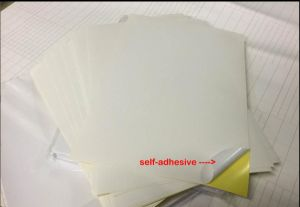 100 X A4 White Glossy Self Adhesive Sticker Paper Full Sheet Label Laser Inkjet Print pictures & photos