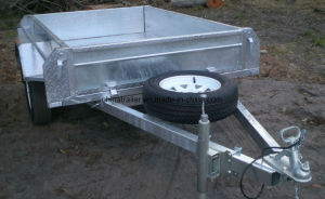 Car Transporter Galvanized Box Trailer pictures & photos