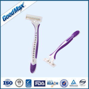 High End Ladies Triple Blades Disposable Razor pictures & photos
