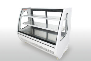 Two Shelf Bakery Display Pastry Cooler Showcase with Embraco Compressor pictures & photos