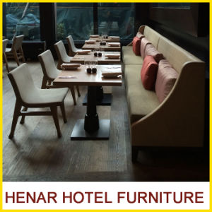 Chinese Restaurant Furniture Dining Room Table and Fabric Chairs and Sofa Booths pictures & photos