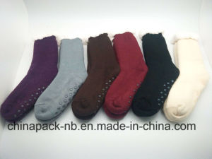 Homesocks Cotton Socks Solid Color, Single Color, Thick, Non-Slip pictures & photos